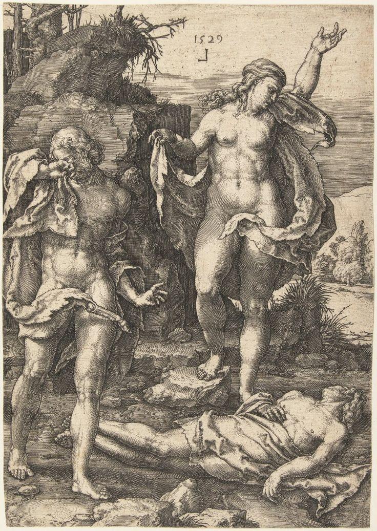 Αδάμ και Εύα θρηνούν το νεκρό Άβελ Lucas van Leyden (1529)