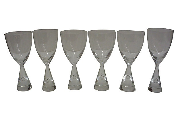 Midcentury Wine Glasses, Set of 6 on OneKingsLane.com