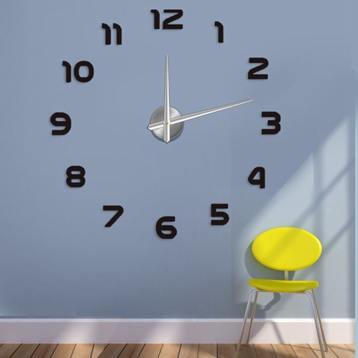 Modern 3D Frameless Large Wall Clock Style Watches Wall Sticker DIY Room Home Decorations Big Timer 2no. Black >>> See this awesome image  : home diy wall