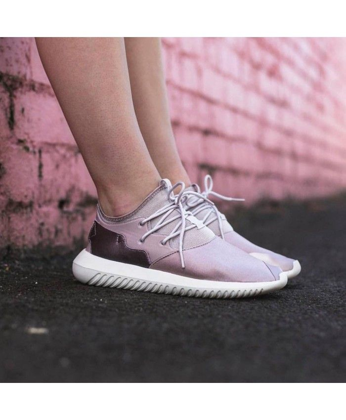 outlet store 586de fc2e6 Adidas Tubular Entrap W Vapour Grey Metallic Ice Purple Core White Shoes