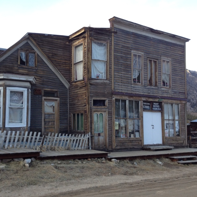 Beautiful main street of the Colorado ghost town, St. Elmo. Est. 1880. (photo taken with iPhone by S. Slayden)