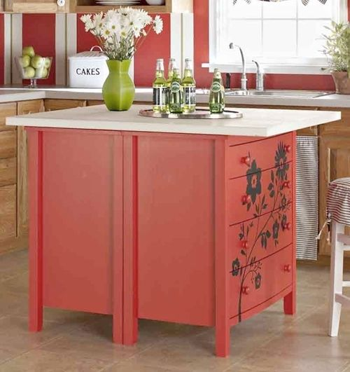 dressers used for kitchen island