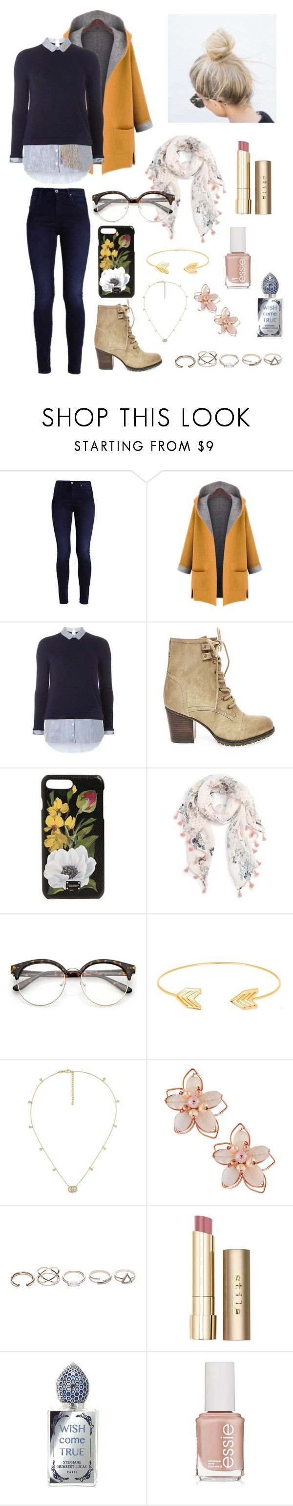 """""""Trendy Outfits"""" by coldplay-shirt on Polyvore featuring WithChic, Dorothy Perkins, Steve Madden, Dolce&Gabbana, Caslon, Lord & Taylor, Gucci, NAKAMOL, GUESS and Stila"""
