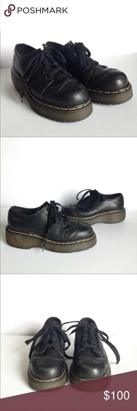 VINTAGE LACE UP DOC MARTENS SHOES IN BLACK EUC HIT BUY BUTTON OR BUNDLE FOR A BETTER DISCOUNT. CLOSET CLEARANCE EVERYTHING MUST GO ASAP. THANK YOU AND GOD BLESS. MOST REASONABLE OFFERS WILL BE ACCEPTED. XXOO Dr. Martens Shoes