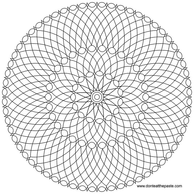 mandala to color in jpg or transparent png versionsnice 5 color mandala that