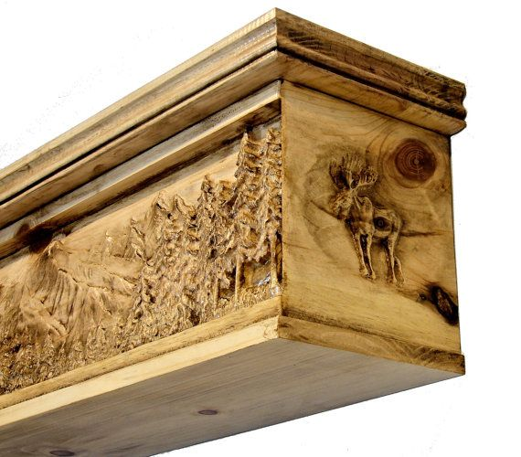 Unique Fireplace Mantel 3D Carved Mantle by SkullCreekDesigns   home    Pinterest   Fireplace mantel, Mantle and Mantels - Unique Fireplace Mantel 3D Carved Mantle By SkullCreekDesigns