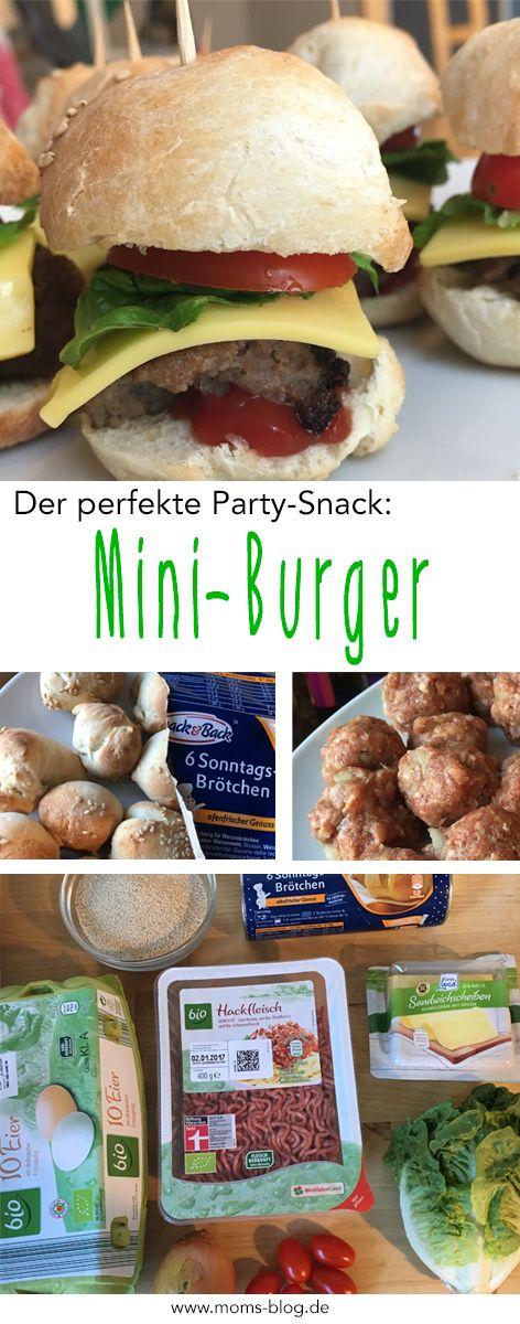 Einfache, schnelle Mini Burger für´s Buffet, als Partysnack oder für Kindergeburtstage