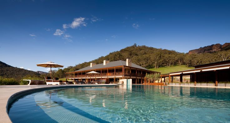 Emirates Wolgan Valley Blue Mountains pool and main lodge