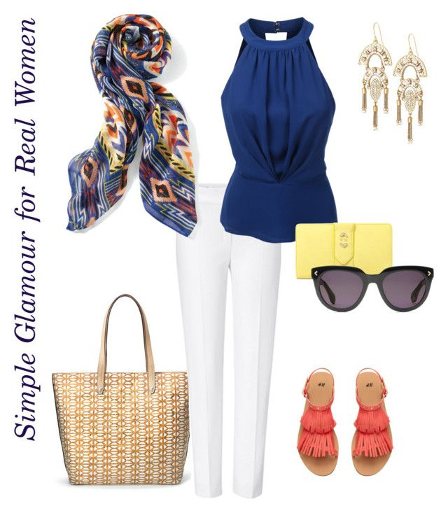 Simple Glamour for Real Women-Tribal Scarf! by carrie-xvi on Polyvore featuring polyvore, fashion, style, LE3NO, ESCADA, Stella & Dot and clothing