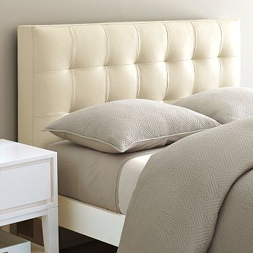 If you want a headboard with a very squared off look, like this one, you'll need to frame it that way - trying to create this look with foam won't hold a nice, firm corner.