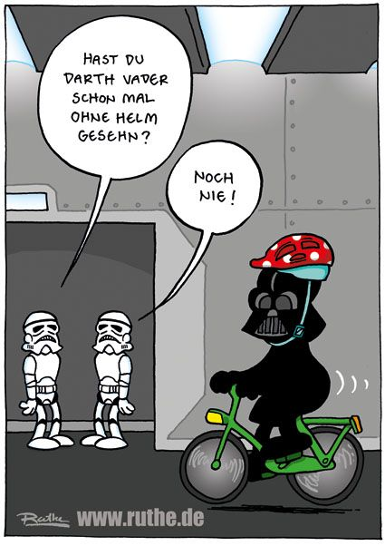 """Have you ever seen Darth Vader without a helmet"" .... ""never"""