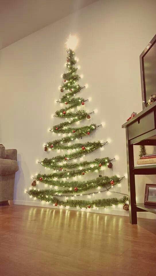 Christmas Tree On Wall With Lights christmas tree on wall - home design