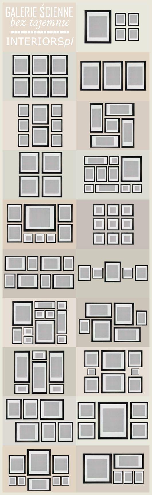 Ideas para organizar cuadros en la pared