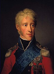 Frederick VI of Denmark (1768 - 1839). King of Denmark from 1808 until his death in 1839. King of Norway from 1808 to 1814. He married Marie Sophie of Hesse-Kassel and had two daughters. He was defeated by Napoleon in 1814 and lost Norway.