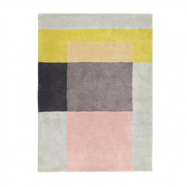 hay sb colour carpet teppich 05 grngrauwei170x240cm - Wohnzimmereinrichtung Beige Wei