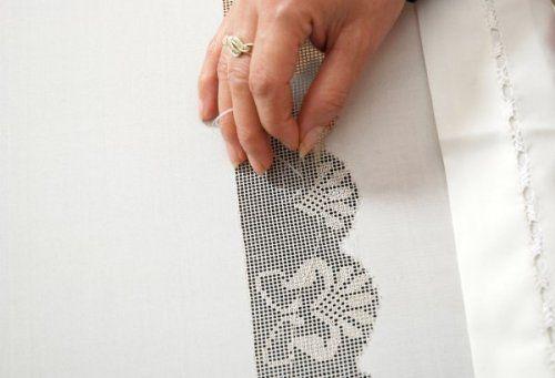 Needlework & Silk tablecloth