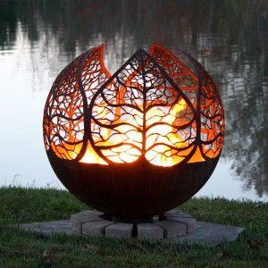 Herbst-Sonnenuntergang-Blatt Feuerstelle - es ist so cool , einfach wow .... it´s so cool