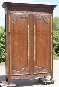 FANTASTIC IMPOSING 19th CENTURY ANTIQUE FRENCH SOLID OAK ARMOIRE  WARDROBE in Antiques, Antique Furniture, Armoires/ Wardrobes, Victorian (1837-1901) | eBay