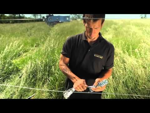 Tensioning the Wire of Your Zareba Systems High Tensile Fence System - YouTube