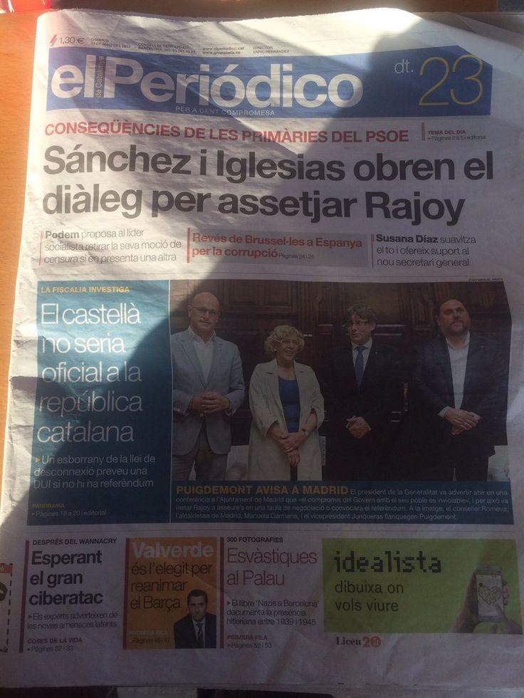 La vergonyosa manipulació de El Periódico( En Català ) El diario unionista El Periódico ha vuelto a demostrar al servicio de quién está con esta vergonzosa manipulación. En la foto de portada deja…