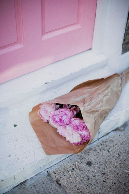 Finding flowers at your door.