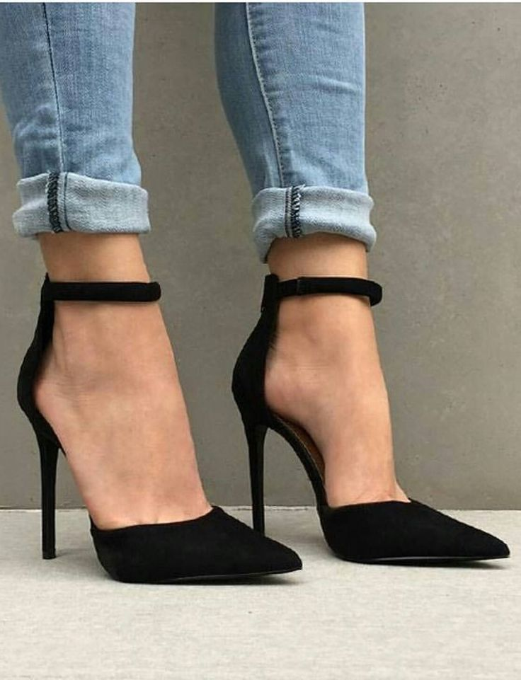 Cheap strap pumps, Buy Quality pointed toe directly from China stiletto high  heel Suppliers: concise black suede leather pointed toe women shoes super  ...