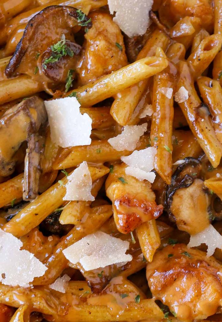 Cheesecake Factory Pasta Da Vinci is a creamy chicken madeira pasta with Parmesan Cheese you'll love
