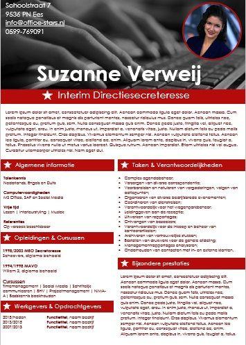 Creatief curriculum vitae van OfficeStars: hét platform voor alle secretaresses van Nederland