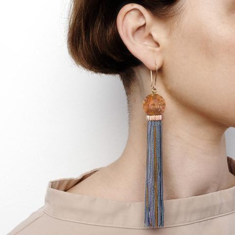 PRE ORDER // Tremble Tassel Earring - Rust
