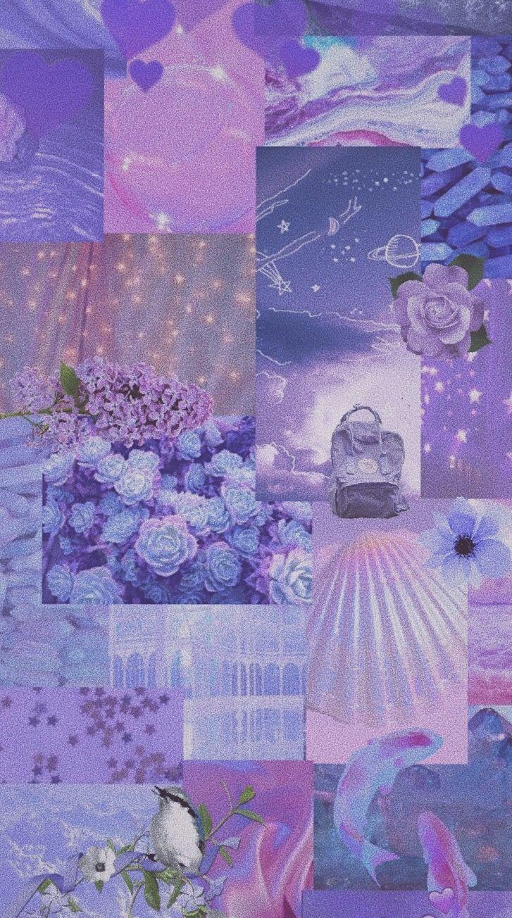 Lilac Aesthetic Wallpaper Foto Abstrak Abstrak Bunga Ungu