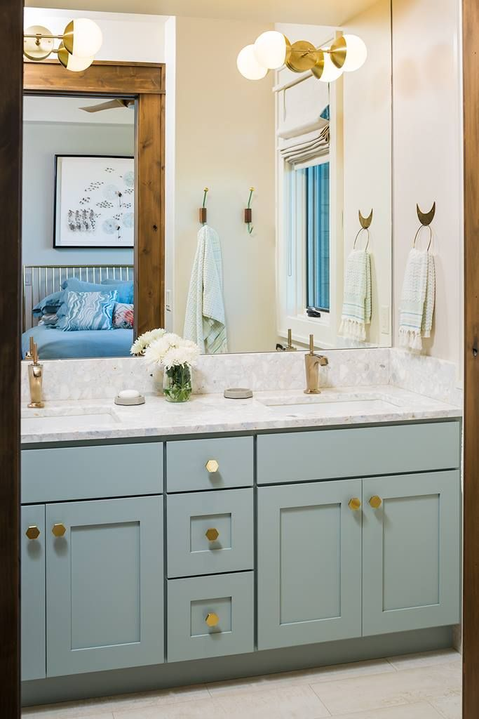 innovative bright blue bathroom | A bright white and blue bathroom is a beautiful place to ...