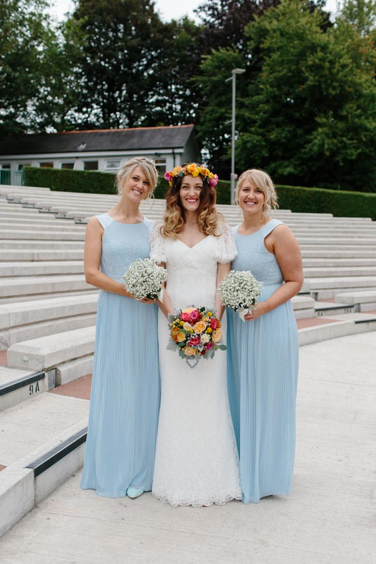 The 25 best bridesmaid dresses glasgow ideas on pinterest bride in charlotte balbier elodie lace wedding dress outdoor ceremony kelvingrove bandstand glasgow ombrellifo Image collections