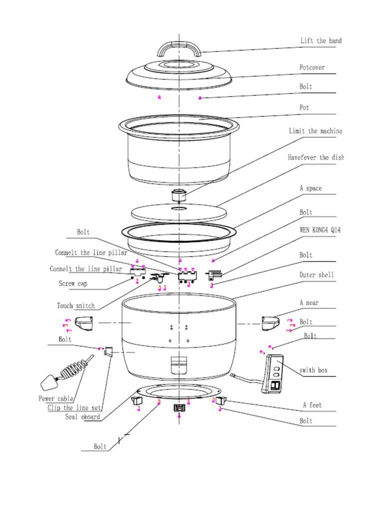 sharp rice cooker diagram