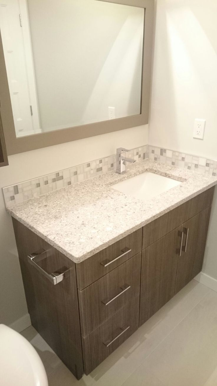 Calgary bathroom renovation. Bathroom vanity, sink, faucet and accent ...