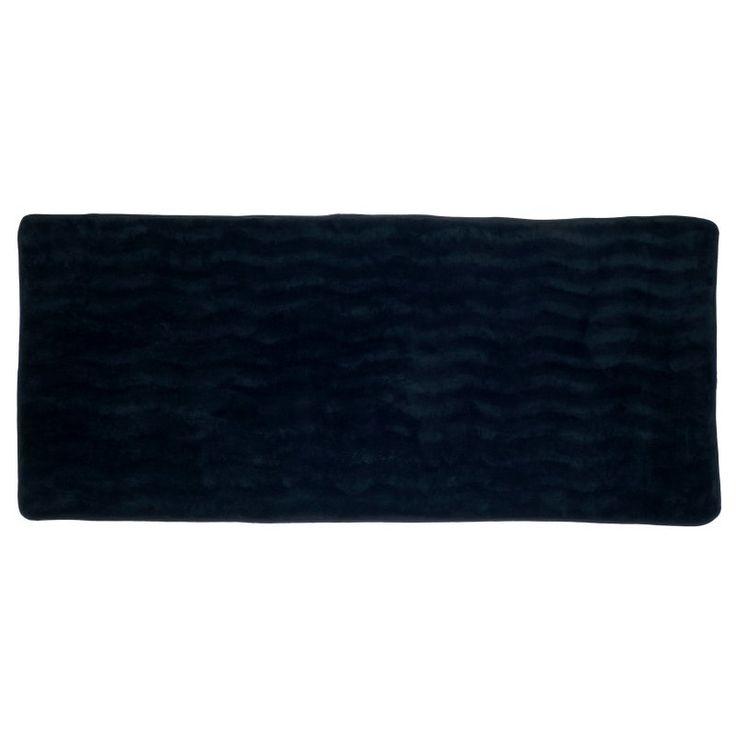 Memory Foam Extra Long Bath Rug Mat Black - 67-11-BL, Lavish Home
