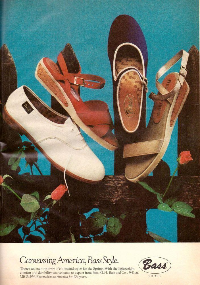 1980 Bass Shoes Footwear Sandals Retro Print Advertisement Ad Vintage VTG 80s   eBay