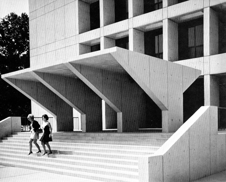 Wassell Randolph Student Alumni Center, University of Memphis, 1960s  (Gassner/Nathan/Browne Architects)