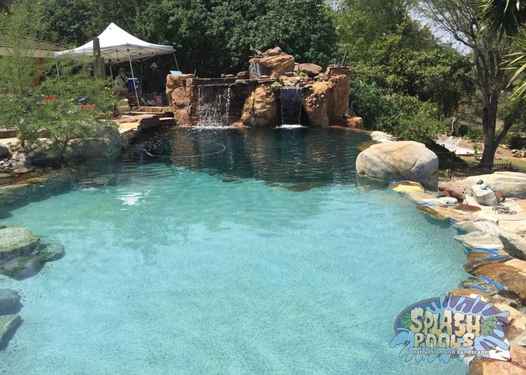 47 best images about custom swimming pools on pinterest for Natural rock swimming pools
