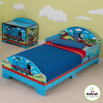 Kidkraft thomas and friends toddler bed our own home pinterest toddler bed for Toddler train bedroom