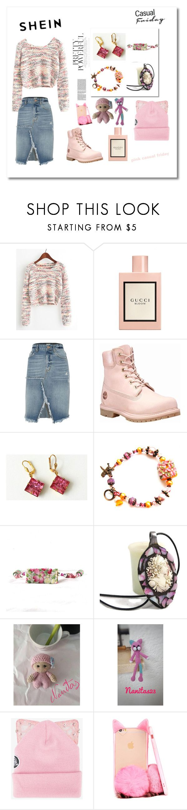 """""""Pink casual friday"""" by nanitas23 ❤ liked on Polyvore featuring Gucci, River Island, Timberland and Silver Spoon Attire"""