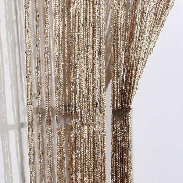 Quaste Silber Seide Glitter String Vorhang Fenster Tür Raumteiler Gardine …  – Products