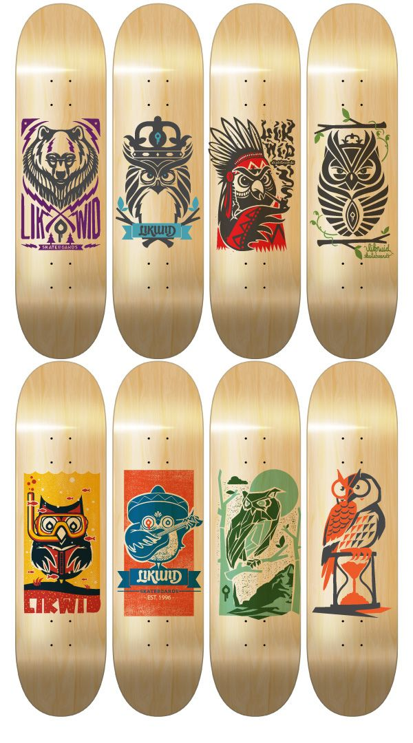 Skateboard Designs 1 on Behance