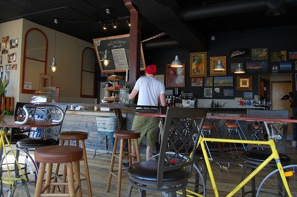 Inside reCyclery bike shop and cafe in Capitol Hill