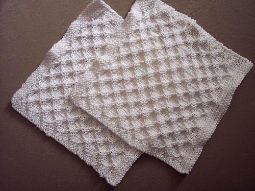 Honeycomb dishcloth | Washcloth pattern, Knit dishcloth ...