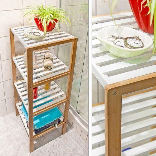 Relaxdays 10017161 – Estantería de bambú, 4 niveles, para baño, bambú, 110 x 33 x 34 cm - http://vivahogar.net/oferta/relaxdays-10017161-estanteria-de-bambu-4-niveles-para-bano-bambu-110-x-33-x-34-cm/ -