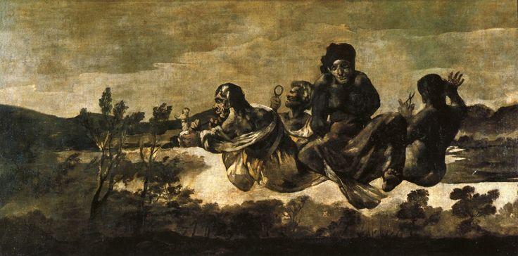 """Atropos (le Parche)"" 1819-1823  Dimension: 123 x 266 cm Black Paintings  Museo del Prado, Madrid"