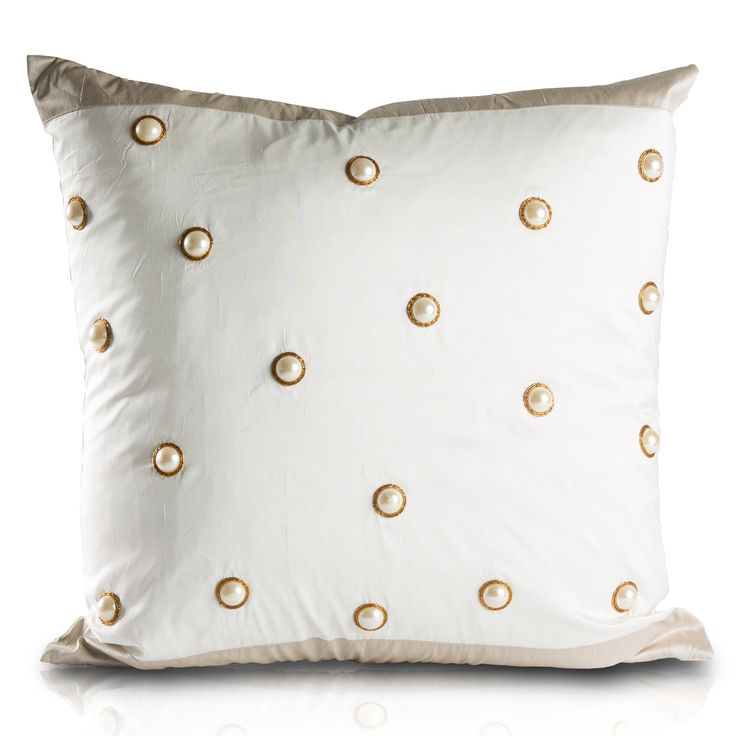 Chanadani White Decorative Pillow @LaylaGrayce