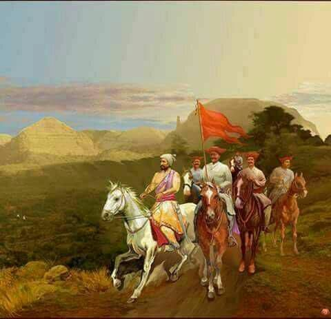 Maratha King with Cavalry
