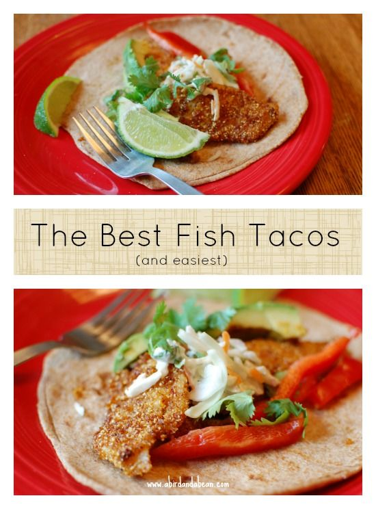 17 best images about meal ideas for the week on pinterest for Easy fish taco recipes