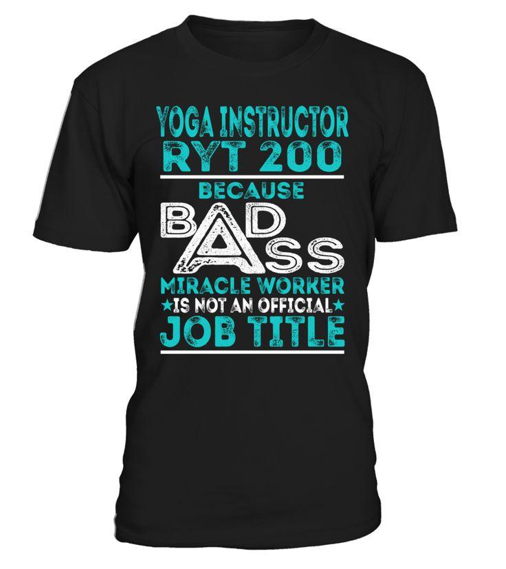 Yoga Instructor Ryt 200 - Badass Miracle Worker